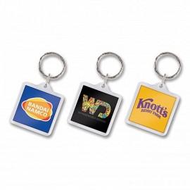Square Lens Key Ring