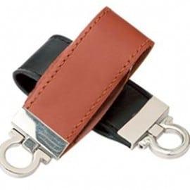 Leather flash drive